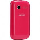 Husa Capac Spate Roz Alcatel One Touch C1