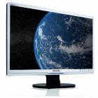 Monitor 22 Inch Lcd  Philips 220sw  Silver & Black