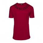 Tricou pentru barbati, cu model, simplu, regular fit, casual, visiniu - BB18101