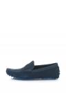 Pantofi loafer de piele intoarsa cu logo metalic
