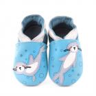 Pantofi Bebelusi Sea Leon Turquoise