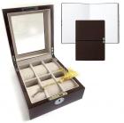 Set Cutie 6 Ceasuri Lemn Luxury Brown Si Note Pad Burgundy Hugo Boss
