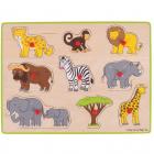 Puzzle Din Lemn Incastru   Safari