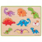 Puzzle Din Lemn Incastru   Dinozauri