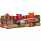 Canapea Modulară Cu 3 Locuri Textil  Model Petice