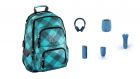 Hama Rucsac Notebook 15.6 Inch Louth Echipat Complet Blue Dream Check