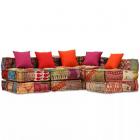 Canapea Pat Modulară Cu 4 Locuri Textil Model Petice