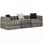 Canapea Modulară Cu 3 Locuri  Textil Cu Dungi