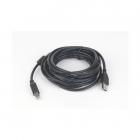 Cablu De Date Usb2.0 A Tata La Usb B Tata  Calitate Premium  Conectori Auriti Si Miez Ferita  Lungime Cablu: 3m  Bulk  Negru  Gembird  ccp usb2 ambm 10
