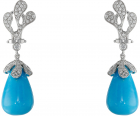 Miseno Sea Leaf Turquoise diamond Earrings