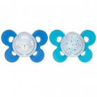 Suzeta Chicco Silicon Physio Comfort Forma Ortodontica 12 Luni+ Bleu
