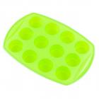 Forma Din Silicon Pentru Briose Kinghoff  12 Cupe  Verde