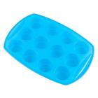 Forma Din Silicon Pentru Briose Kinghoff  12 Cupe  Albastru