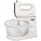 Mixer Cu Bol Hr3745 00 Viva Collection 450w 3 Litri 5 Viteze Plus Turbo Alb   Gri
