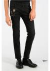 Dolce & Gabbana 16cm Skeleton Embroidered Jeans