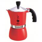 Espressor Pentru Aragaz Bialetti  Capacitate 3 Cupe  Seria Fiammetta  Rosu