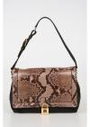 Dolce & Gabbana Leather Shoulder Bag With Python Skin Insert