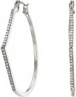 Guess Pave Accent Hoop Earrings