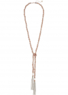Guess Tassel Knotted Necklace W  Pearls