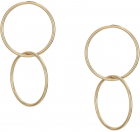 Guess Linked Rings Drop Earrings
