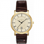 Ceas Mens C line Brown Leather Strap 709856 48 32 07