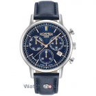 Ceas Vanguard Ii Blue Leather Strap 975819 41 45 09