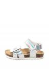 Sandale Cu Velcro Si Aplicatie Florala
