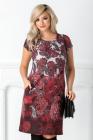 Rochie Carrie Tip A Bordo Cu Imprimeu Floral