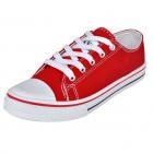 Pantofi Sport Clasici Femei  Cu șiret  Pânză  Roșu  Mărimea 36