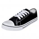 Pantofi Sport Clasici Femei  Cu șiret  Pânză  Negru  Mărime 41
