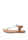 Sandale De Piele Cu Bareta In Forma De T Si Decupaje