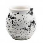 Matero Din Ceramica Black&white Pentru Yerba Mate