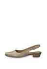 Sandale Slingback De Piele Cu Apect Stralucitor