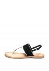 Sandale De Piele Si Piele Intoarsa   Cu Bareta Separatoare Si Detalii Metalizate Zitsa
