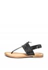 Sandale Slingback De Piele Cu Bareta Separatoare Platea