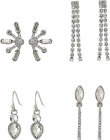 Guess 6 pair Mixed Stud And Mini Drop Earrings Set