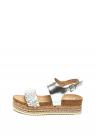 Sandale Cu Platforma Si Aspect Metalizat