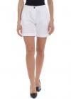 Fay Fay Shorts In White With Pleats