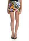 Blugirl White Shorts With Contrasting Floral Print