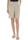 Etro Beige Shorts With Pleats