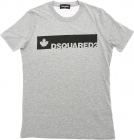 Grey T shirt With Logo Print