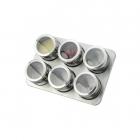 Set Condimente Grunberg Cu Suport Magnetic 7 Piese  Inox