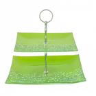 Etajera Sticla 2 Nivele verde