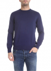 Crew neck Pullover In Navy Blue