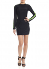 Dress In Black With Contrasting Logo Details
