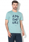 Tricou Cu Imprimeu Text Atlantique