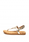 Sandale De Piele Cu Bareta Separatoare Si Logo Stantat Ayden
