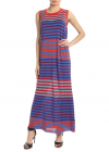 Striped Multicolored Sleeveless Dress