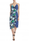 Rafael Dress In Blue And Turquoise Green