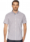 Short Sleeve Plaid Poplin Woven Shirt